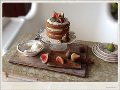 Fig Cake - Dollhouse Miniature Food | Flickr - Photo Sharing!