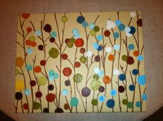 But instead of the paint circles, use paper circle punches and make it more of a mixed media piece.