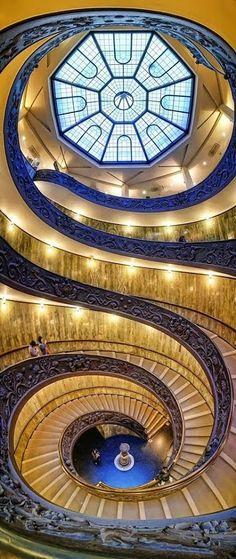 Spiral staircase, Vatican Museum  photo by Silvio Zangarini