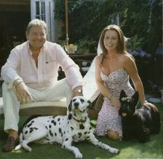 Greg Lake with his wife and dogs, Astor and Daisy.