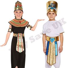 Childrens kids boys girls #egyptian queen #cleopatra #pharoah fancy dress costume,  View more on the LINK: http://www.zeppy.io/product/gb/2/181863228137/