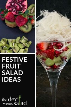 Red and Green Fruit Salad with Vanilla Persian Fairy Floss. If you're looking for a fun Christmas fruit salad, this super easy and quick recipe is just for you! Pomegranate Recipes, Fruit Salad Recipes, Pomegranate Seeds, Christmas Fruit Salad, Christmas Salad Recipes, Dinner Party Menu, Dessert Salads, Green Fruit, Xmas Food