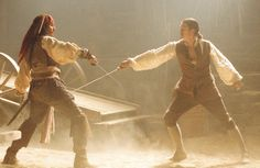 Captain Jack Sparrow & Will Turner - Pirates of the Caribbean: The Curse of the Black Pearl  Johnny Depp & Orlando Bloom