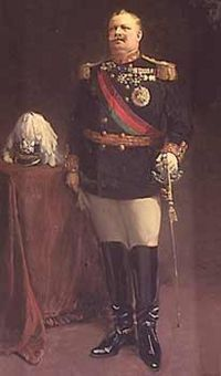 King Carlos I of Portugal in 1908, He and the Prince Royal were murdered later in the year.