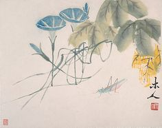nsects and Plants Qi Baishi (Chinese, 1864–1957) Date: dated 1943 Culture: China Medium: Album of twelve leaves; ink on paper Dimensions: 10 1/8 x 13 1/2 in. (25.7 x 34.3 cm) Classification: Paintings Credit Line: Gift of Robert Hatfield Ellsworth, in memory of La Ferne Hatfield Ellsworth, 1986 Accession Number: 1986.267.237a–l