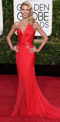 Golden Globes Heidi Klum - clearly she lives in a time capsule, along with Christie Brinkley