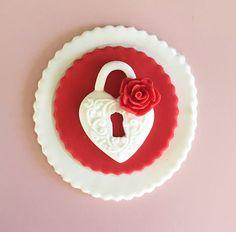 Valentine's Day Cupcake Topper Romantic Proposal Fondant