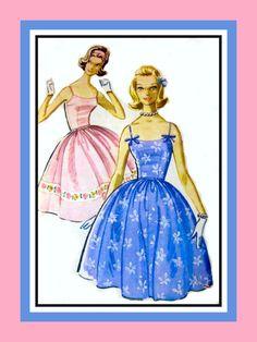 Vintage 1961 Springtime Dress Sewing Pattern