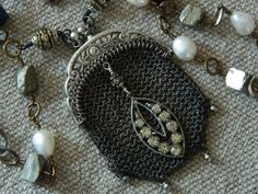 Antique Chatelaine Chainmaille Coin Purse Necklace by 58Diamond