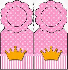 Coronas sobre fondo rosa: tarjetería para Imprimir Gratis. - Ideas y material gratis para fiestas y celebraciones Oh My Fiesta!