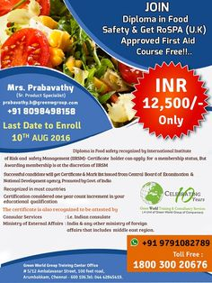 GWG's combo offer for diploma in food safety .  http://greenwgroup.co.in/training-courses/diploma-in-food-safety/  #diplomainfoodsafety