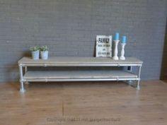 Tv meubel steigerbuis greywash steigerhouthuis foto 1