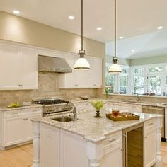 White Kitchen Cabinets With Granite Countertops 15 best pictures of white kitchens with granite countertops | http