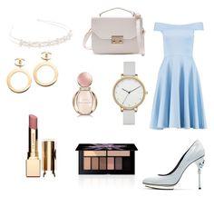 """Cinderella"" by idkjustmeow on Polyvore featuring moda, Boohoo, Oscar de la Renta, Skagen, Chanel, Bulgari, Clarins, Smashbox y JFR"