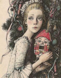 illuatration by Alena Nalivkina Щелкунчик. Christmas Illustration, Children's Book Illustration, Illustrations, Nutcracker Sweet, Nutcracker Christmas, Christmas Images, Christmas Art, Party Vintage, Magic Garden