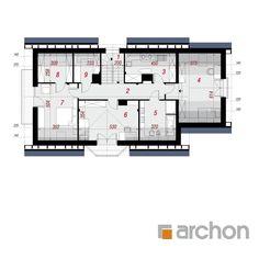 Dom w majeranku 2 (G) Floor Plans, Floor Plan Drawing, House Floor Plans