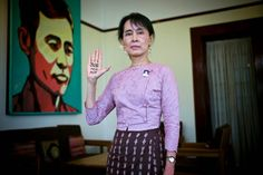 Daw Aung San Suu Kyi, Nobel Peace Prize winner, leader of the opposition party the NLD and Burma's democracy icon    Read more: http://world.time.com/2012/09/19/aung-san-suu-kyis-world-portraits-of-burmese-dissidents-and-activists/#ixzz26xUhCItu