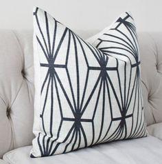 Kelly Wearstler Katana Pillow Cover Ivory Ebony by MotifPillows