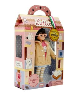 Pandora's Box Lottie Doll : see more at http://www.lottie.com/collections/all-products/products/pandoras-box-lottie-doll
