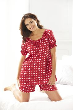 Plus Size Heart Pajamas from Woman Within