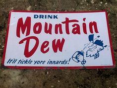 Mountain Dew Tin Sign Man Cave Home Decor Garage Woman #MountainDew