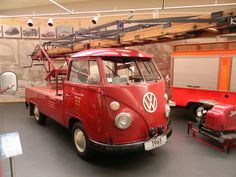 Credit: Lea Leathers. VW museum - Single Cab Ladder Feuerwehr.