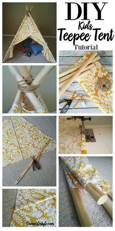 DIY Kids Teepee Tent Tutorial gift gifts idea project craft party sewing crafts decor home pattern gift ideas design fabric kids room diy kid room ideas DIY Kids Teepee Tent Tutorial Childrens Craft Tent Diy Tipi, Diy Kids Teepee, Diy Teepee Tent, Kids Tents, Tent Craft, Childrens Teepee, Diy Home Crafts, Diy Home Decor, Sewing Crafts