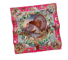 Faune et flore du Texas   Hermes vintage silk twill scarf  How could you not love this?!