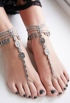 Etched Foot Chain Set | Forever 21 - 1000078131