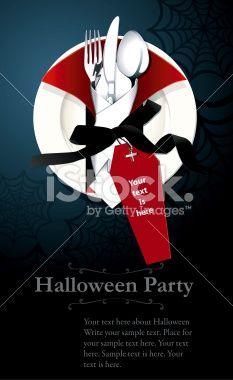 Vector of Halloween night party invitation Royalty Free Stock Vector Art Illustration