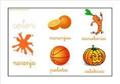 Colores - Naranja http://www.educapeques.com/recursos-para-el-aula/los-colores-fichas-para-aprender-y-repasar.html