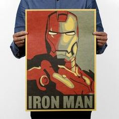 Cheap decal wall, Buy Quality decal notebook directly from China decal manufacturers Suppliers: Marvel Hero Iron Man Vintage Kraft Paper Classic Movie Poster Home Decor Wall Decoration Art Office School DIY Retro Prints Comics Vintage, Posters Vintage, Vintage Cartoon, Iron Men, Iron Man Marvel, Iron Man Poster, Avatar Poster, Cartoon Posters, Art Posters