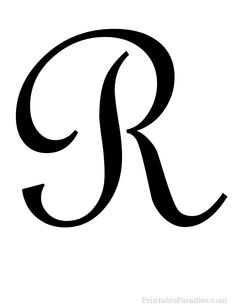 Printable Letter R in Cursive Writing