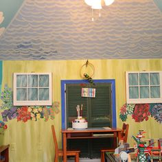 Transforming a Blah Playroom into Paradise with a Beach Mural