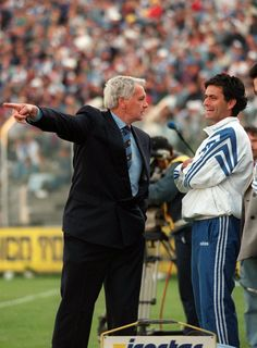 Bobby Robson et José Mourinho (Barcelone).