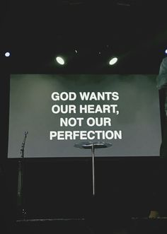 God wants our heart not our perfection