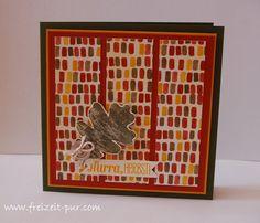 Stampin Up!  Herbstfarben, Knöpfe, Designerpapier