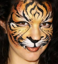 Learn how to face paint this amazing and fancy Tiger design, that both boys and girls will love! Tiger makeup & face painting tutorial suitable for both beginners and advanced artists‼️ Face Painting Tutorials, Face Painting Designs, Paint Designs, Body Painting, Tiger Face Paints, Mime Face Paint, Animal Face Paintings, Animal Faces, Animal Makeup