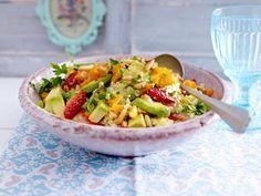 Couscous-Salat  - ein wahrer Glücklichmacher - couscoussalat-mit-avocado  Rezept