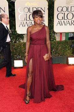 Viola Davis | Marsala Is Pantone's Color Of The Year, But These 17 Celebrities Already Knew That | Bustle - Pantone Color of the Year 2015 Marsala