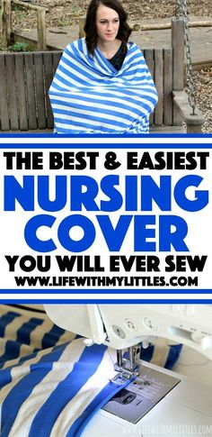 The best (and easiest) diy nursing cover you will ever sew. This really is the easiest tutorial for a full-coverage nursing cover. Nursing Poncho, Nursing Tops, Nursing Covers, Baby Diy Projects, Baby Crafts, Sewing Projects, Sewing Tips, Sewing Ideas, Sewing Patterns