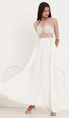Lurelly Provence Gown in White at REVOLVE