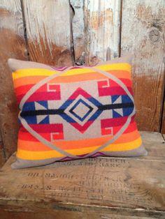 Native American Pendleton Throw Pillow