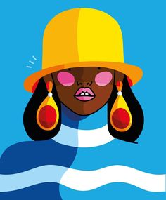"""Xaviera Altena on Instagram: """"Playing around with colours and shapes 🎨 #illustration #art #design #colourfulart #popart #fashionillustration #juxtapoz #itsnicethat…"""""""