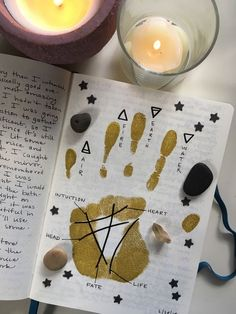 "Laurel's Guide to Grimoires Laurel's Guide to Grimoires,Wicca thecollegewitch: ""A peek into my book of shadows. Mine is a combination of personal journaling, witchcraft, and art! Kunstjournal Inspiration, Bullet Journal Inspiration, Journal Ideas, Journal Layout, Wiccan Witch, Magick, Witch Rituals, Grimoire Book, Baby Witch"