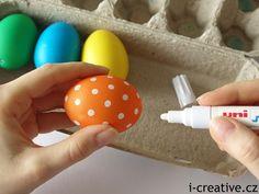 Velikonoční kraslice s puntíky