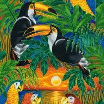 Wildlife paradise sunset