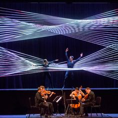 Architect Gabriel Calatrava, the son of Santiago Calatrava, has designed a rope installation for a performance of Johann Sebastian Bach's chamber music for the 92Y cultural center in New York.