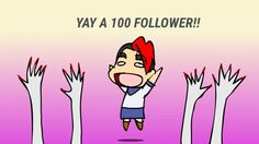 YAY I GOT 100 FOLLOWERS!!!!!!!!!!!!