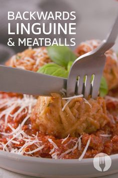 Fried linguine balls + bolognaise sauce = epic PASTA-BILITIES 🍝😍 Linguine, Balls, Fries, Dinners, Veggies, Cooking Recipes, Pasta, Child, Food